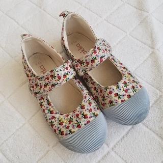ハッカキッズ(hakka kids)のhskka 花柄シューズ 靴 19cm(その他)