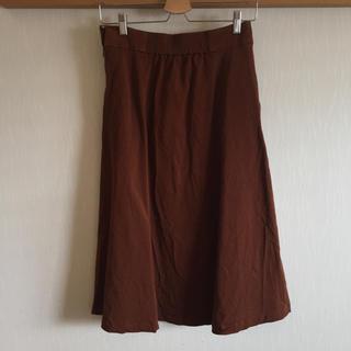 ムジルシリョウヒン(MUJI (無印良品))のチノ フレアースカート(ロングスカート)