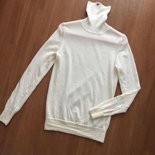 ムジルシリョウヒン(MUJI (無印良品))の送料込み♡MUJIのチクチクしないタートルネックのセーター/ニット♡XS♡(ニット/セーター)