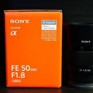 ソニー(SONY)のSONY FE 50mm F1.8 Φ49  SEL50F1.8 フルサイズ対応(レンズ(単焦点))