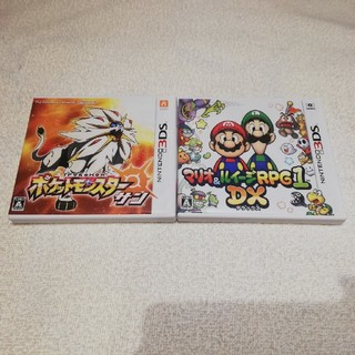 ニンテンドー3DS(ニンテンドー3DS)の3DS ポケットモンスター サン  マリオ&ルイージRPG1 DX 2本セット(携帯用ゲームソフト)