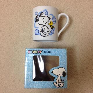 スヌーピー(SNOOPY)のスヌーピー&ウッドストック マグカップ(グラス/カップ)
