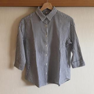 ムジルシリョウヒン(MUJI (無印良品))のストライプ 七分袖シャツ(シャツ/ブラウス(長袖/七分))