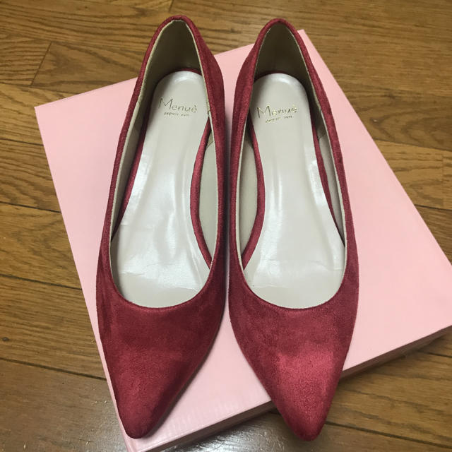 (お値下げ)スエードパンプス ローヒール メヌエ レディースの靴/シューズ(ハイヒール/パンプス)の商品写真