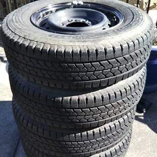ブリヂストン(BRIDGESTONE)のハイエース ブリザック スタッドレスタイヤ ホイール 4本セット(タイヤ・ホイールセット)