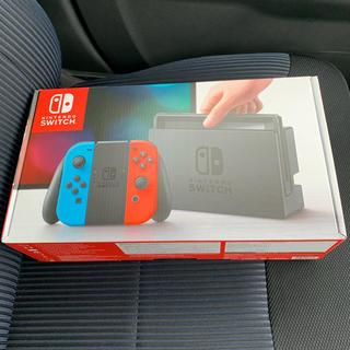 ニンテンドウ(任天堂)の新品 Nintendo Switch ネオンブルー/ ネオンレッド(家庭用ゲーム本体)