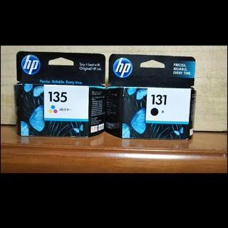 ヒューレットパッカード(HP)のhp131、135インク  3色カラー ブラック インクジェット(PC周辺機器)