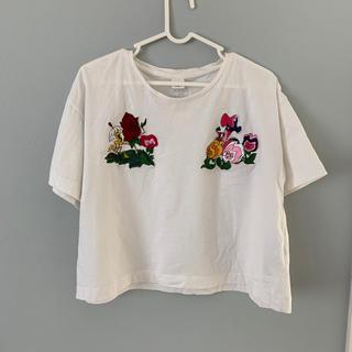 ディズニー(Disney)のディズニー 刺繍Tシャツ(Tシャツ(半袖/袖なし))