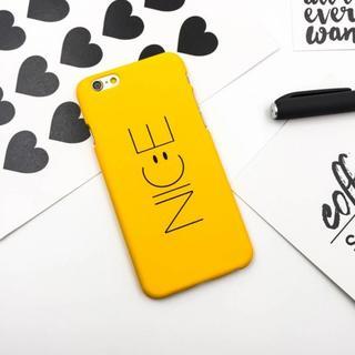 iPhone7 iPhone8 イエロー NICE ニコちゃん ハードケース(iPhoneケース)
