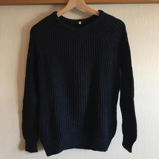 ムジルシリョウヒン(MUJI (無印良品))の畦編み セーター(ニット/セーター)