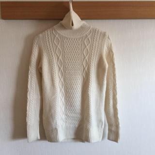 ムジルシリョウヒン(MUJI (無印良品))のアラン柄 タートルネックセーター(ニット/セーター)
