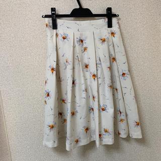 ミスティウーマン(mysty woman)の膝丈 スカート 花柄(ひざ丈スカート)