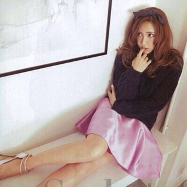 MERCURYDUO(マーキュリーデュオ)のマーキュリーデュオ♡シャンタンスカート レディースのスカート(ミニスカート)の商品写真