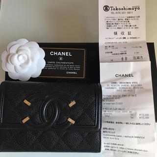 シャネル(CHANEL)の♡新品未使用♡CHANEL 折財布  中財布(財布)