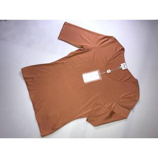 アルマーニ コレツィオーニ(ARMANI COLLEZIONI)の新品アルマーニ コレッツオーニカットソー 六分丈オレンジ Tシャツ40号Lサイズ(Tシャツ(長袖/七分))