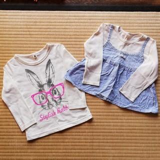 西松屋 - 【95サイズ】女の子 Tシャツ 2枚セット