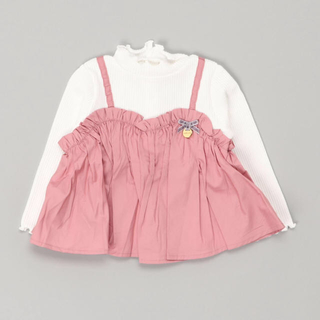 petit main - ドッキングキャミ長袖Tシャツ