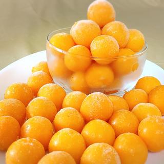 【加工向け】冷凍オレンジチェリー(フルーツほおずき) 50粒 2018年産(野菜)