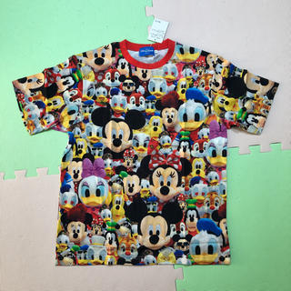 ディズニー(Disney)のディズニー 総柄 Tシャツ S ミッキー ミニー ドナルド デイジー(Tシャツ(半袖/袖なし))