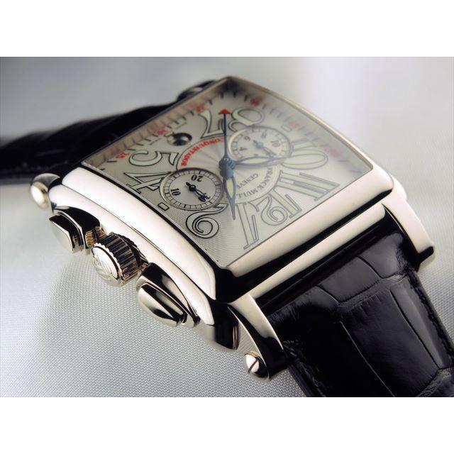 FRANCK MULLER(フランクミュラー)のコンキスタドールコルテス 2カウンタークロノグラフ ホワイトゴールド レディースのファッション小物(腕時計)の商品写真