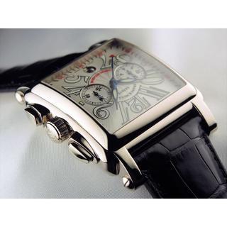 フランクミュラー(FRANCK MULLER)のコンキスタドールコルテス 2カウンタークロノグラフ ホワイトゴールド(腕時計)
