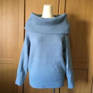 ジーユー(GU)の■本日限定SALE■ブルーグレー・オフタートルネックセーター(ニット/セーター)