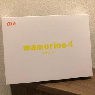 エーユー(au)のau mamorino4 新品未使用 判定○(スマートフォン本体)