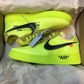 ナイキ(NIKE)のNIKE AIR FORCE 1 OFF WHITE VOLT 29cm(スニーカー)