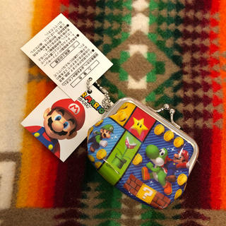 ニンテンドウ(任天堂)の【スーパーマリオ】がま口 ミニ 財布(キャラクターグッズ)