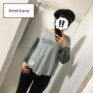 アメリカーナ(AMERICANA)の【Americana】ブランドロゴ入りカットソー(カットソー(長袖/七分))
