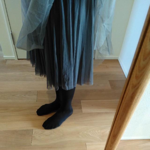 antiqua(アンティカ)のグレー チュチュスカート レディースのスカート(ロングスカート)の商品写真