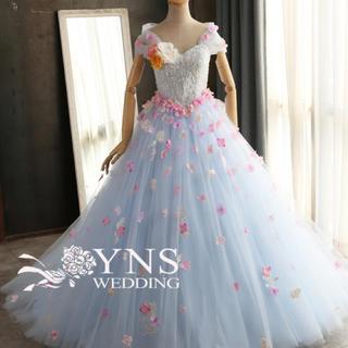 ウエディング カラードレス 水色(ウェディングドレス)