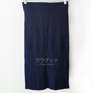 ジーユー(GU)の美品★ GU ニットスカート 紺色(ロングスカート)