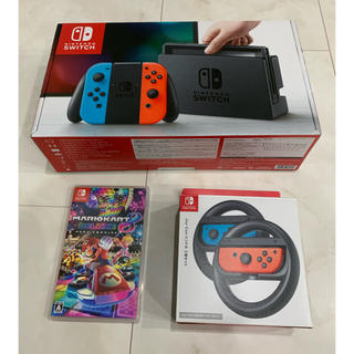 Nintendo Switch - Nintendo Switch 本体&マリオカート8、ハンドルセット