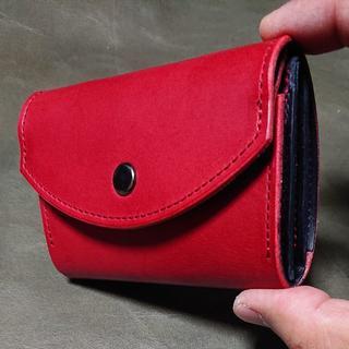 ミニ財布(赤黒赤)(折り財布)