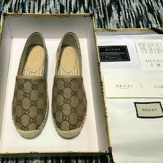 グッチ(Gucci)のGUCCI フラットシューズ  38(ローファー/革靴)