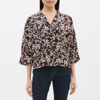 ジーユー(GU)のGU ジーユー プリントオープンカラーシャツ(シャツ/ブラウス(長袖/七分))