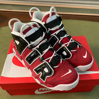 ナイキ(NIKE)のAIR MORE UPTEMPO '96 BULLS VARSITY RED (スニーカー)
