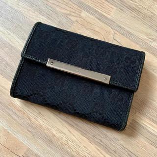 グッチ(Gucci)の【美品】GUCCI グッチ 財布 折り財布 ブラック 黒 コンパクト(財布)