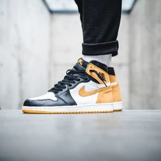 ナイキ(NIKE)のair jordan 1 yellow ochre 29CM(スニーカー)