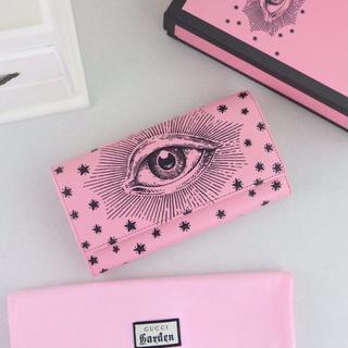 グッチ(Gucci)のグッチ 財布 長財布 小銭入れ 美品 ピンク(財布)