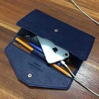 ★スマホもOK★ マルチPUケース パスポートケース ★ ネイビー z305(モバイルケース/カバー)