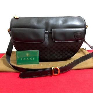 グッチ(Gucci)の☆ 美品 グッチ オールドグッチ マイクロGG ショルダーバッグ ブラック 黒(ショルダーバッグ)