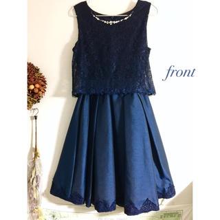アクシーズファム(axes femme)の美品♡リボンベルト付ドレス(ミディアムドレス)