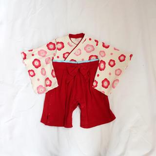 アカチャンホンポ(アカチャンホンポ)の袴オール 袴 ロンパース 初節句 ひな祭り 80(和服/着物)
