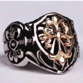 指輪 リング アクセサリー メンズリング ユニセックス 新品未使用 クロスリング(リング(指輪))
