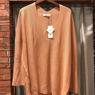 ドゥドゥ(DouDou)の未使用 Dou Dou  ドゥドゥ ニット Vネックセーター 薄手 春物 フリー(ニット/セーター)