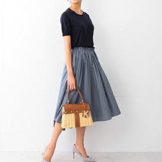 Demi-Luxe BEAMS - デミルクス ビームス タイプライターギャザースカート フレアスカート スカート