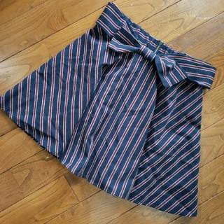 シマムラ(しまむら)のしまむら♡リボン付きストライプスカート(ミニスカート)