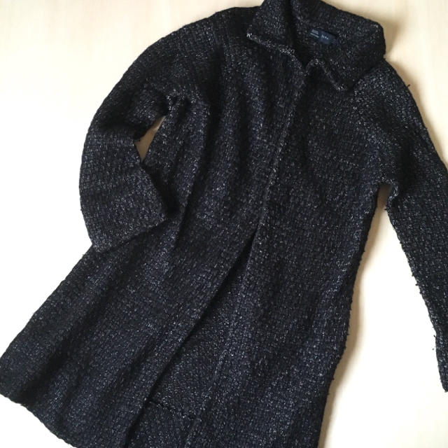ZARA(ザラ)のzara  ロングニットコート レディースのジャケット/アウター(ニットコート)の商品写真